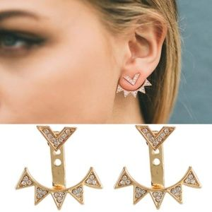 Jewelry - NEW spike ear jackets